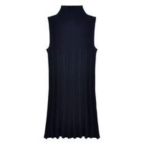2013秋装 新款女装 韩版纯色无袖高领针织衫 打底衫中长款 潮 价格:89.00