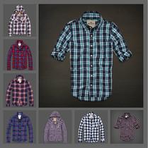美国AF代购Abercrombie Fitch正品 男式新款春秋格子衬衫休闲长袖 价格:287.20