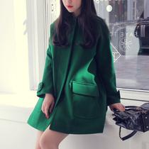 【爱购】 LYAngel/毛呢外套大衣女2013秋冬装新款呢子大口袋斗篷 价格:198.00