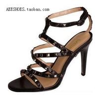 足色女鞋 AEE爱意 专柜正品 真皮铆钉 高跟凉鞋 原价788元 2690 价格:125.00