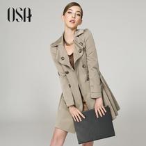OSA2013秋装新款女装中长款风衣韩版修身春秋外套女式风衣F33007 价格:298.76