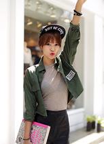 秋装上新 韩国官网正品代购 DAHONG 韩版帅气修身衬衫夹克 短外套 价格:270.00