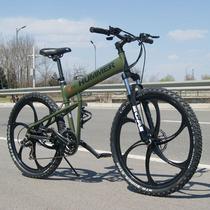 新款折叠山地车26寸山地自行车shimano越野变速车单车减震山地车 价格:870.00