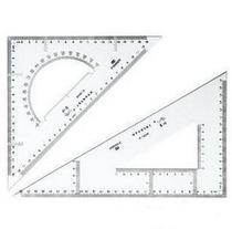 正品得力三角尺 塑料三角板套尺 设计三角板套装 建筑绘图三角板 价格:7.00