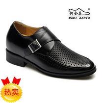13新款何金昌男士坡跟内增高鞋时尚商务透气正装凉鞋乐昂 7.5CM 价格:438.24