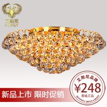 艾斯尼高档客厅灯金色水晶灯吸顶灯卧室灯餐厅酒店灯饰灯具0082 价格:248.00