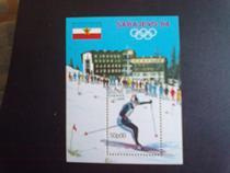 几内亚比绍1984年滑雪冬奥会小型张1全新 价格:20.00