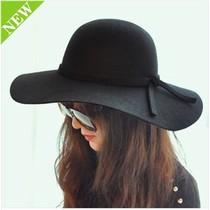 小辣椒韩版大檐帽盆帽英伦女冬季羊毛呢帽子女士冬天礼帽爵士帽 价格:27.80