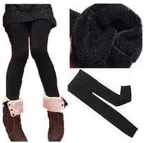 【特价乐购】新款潮女黑色竹炭纤维保暖打底裤双层加厚不起球 价格:9.52