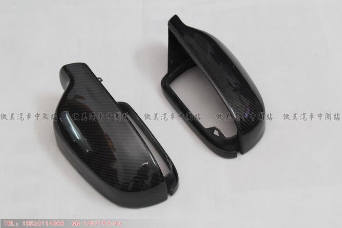 13款奥迪A4L碳纤后视镜壳 AUDI B9碳纤后照镜罩 A4L改装 更换式 价格:480.00