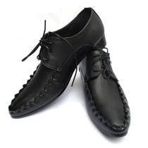 时尚英伦商务休闲皮鞋增高潮流男鞋韩版尖头皮鞋男黑色单鞋子透气 价格:88.80