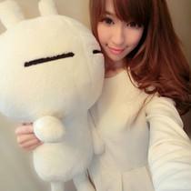 正版兔斯基表情兔子毛绒玩具娃娃公仔抱枕女友中秋节国庆生日包邮 价格:28.00