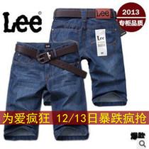 lee牛仔短裤 LEE牛仔五分裤 夏季李维斯男士牛仔中裤 专柜正品 价格:49.00