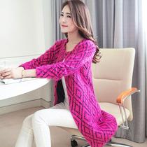 2013秋装女装新款韩版中长款圆领马海毛针织衫开衫潮外套时尚毛衣 价格:79.00
