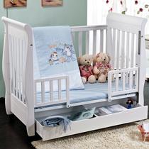 爱斯博儿欧式婴儿床 实木无味环保漆宝宝BB床童床白色出口多功能 价格:1380.00