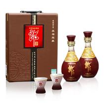 平价名酒 白酒 包邮 郎酒 美福宝藏 皮盒礼盒装 52度 500ml*2瓶 价格:198.00