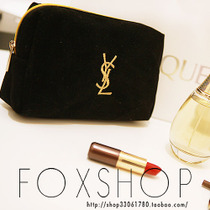新款特价批发圣罗兰女士大牌韩国版可爱黑色收纳化妆包女专柜赠品 价格:19.50