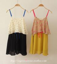 蜜糖小然家~日本原单,雪纺吊带连衣裙 价格:89.00