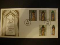 诺福克岛:1983,宗教,绘画,教堂玻璃画,外国邮票首日封 价格:10.00