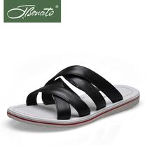 宾度夏季彩色男士凉鞋沙滩鞋 真皮头层牛皮男皮凉鞋1360814882 价格:718.00