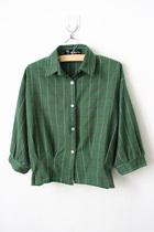 2013韩版新款潮格子衬衫T恤运动休闲复古百搭宽松显瘦打底衫女装 价格:58.00