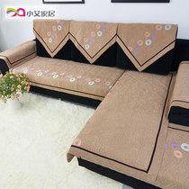 小艾 麂皮绒欧式沙发垫真皮沙发坐垫防滑布艺高档沙发巾套罩时尚 价格:45.50