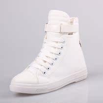 包邮 糖果色 高帮帆布鞋 韩版小白鞋 休闲鞋 平底舒适布鞋女 特价 价格:50.00