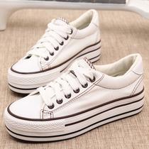 2013正品远波新款松糕底韩版潮流低帮帆布鞋女款金典厚底女鞋包邮 价格:39.00
