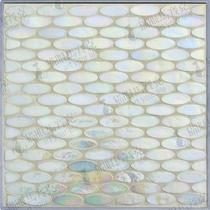 【猫眼】SE01彩立方精型马赛克白色卫生间背景墙瓷砖地面椭圆玫瑰 价格:66.50