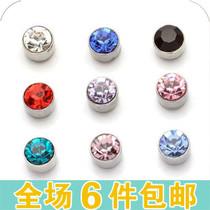 韩版圆形吸铁石无耳洞耳夹 强磁吸铁磁石男生女生磁铁耳钉耳环 价格:1.00
