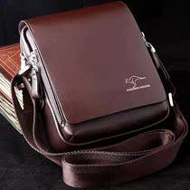 袋鼠专柜正品男士品牌单肩包斜跨包牛皮时尚休闲韩版小包真皮男包 价格:168.00