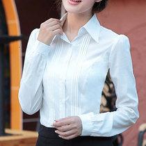 2013春装新款女装女士韩版衬衣OL通勤修身显瘦女长袖气质衬衫 价格:68.00
