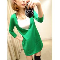 拔萝卜的小老鼠 2013秋装新款韩版大V领收腰奢华大牌连衣裙女K810 价格:89.00