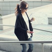 包邮2013新款秋冬韩版女装中长款针织衫宽松开衫大披肩毛衣外套 价格:49.00