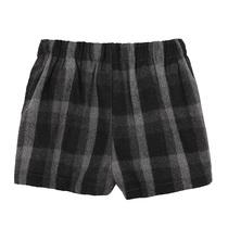 外贸原单秋冬韩版女士加厚复古修身高腰格子短裤休闲时尚拉链靴裤 价格:142.00