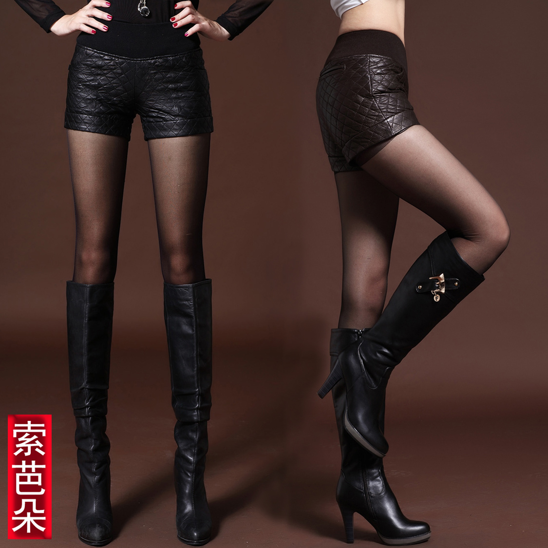 海宁2013时尚女修身皮短裤 绵羊皮热裤 特大号皮裤 真皮短裤 价格:229.00