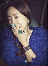 韩国代购 秋冬新款圈圈毛毛衣短款开衫七分袖 V领毛茸茸加厚外套 价格:128.00