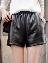 秋装新款 高端定制 暗纹蛇纹短皮裤  皮短裤 价格:43.00