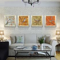 心泊墙画壁画挂画有框画沙发墙简约现代客厅三联装饰画幸福鸟包邮 价格:138.70