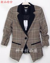 2013秋季正品代购Vero Moda英伦格子撞色七分袖女小西装312308019 价格:186.00