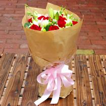 花の季节精选粉玫瑰花束- 粉红浪漫 深圳鲜花速递 价格:129.00
