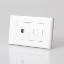 正泰开关插座 NEW5G 二位 电视 电脑 正泰墙壁开关 118型组合插座 价格:27.30