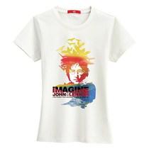 凡客诚品官网正品短袖女【VT】印花T恤 列侬-IMAGINE(女款)  0 价格:39.00
