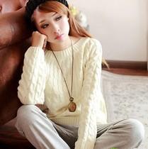 2013秋冬新品 女装 针织衫 套头 一字领 毛衣 女  麻花 价格:19.90