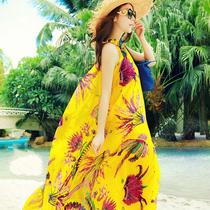 丝静 波西米亚女装无袖长裙大码显瘦圆领吊带连衣裙度假 沙滩裙 价格:74.00