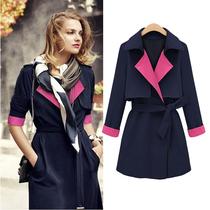 zara香港代购街头朋克系带翻领纯色长袖修身型常规袖欧洲站风衣女 价格:340.00