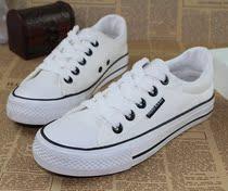 经典款系带平底纯色黑白色韩版休闲情侣鞋男女鞋子运动鞋帆布鞋潮 价格:20.00