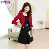 秋装两件套连衣裙气质 2013新款韩版女士收腰显瘦长袖秋季连衣裙 价格:158.00