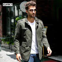 杰克男士外套 2013新款春秋薄款立领琼斯纯棉休闲夹克衫大码 价格:179.00
