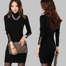 2013秋冬新款 韩版女式修身显瘦高领长袖毛衣 中长款加厚 价格:79.00